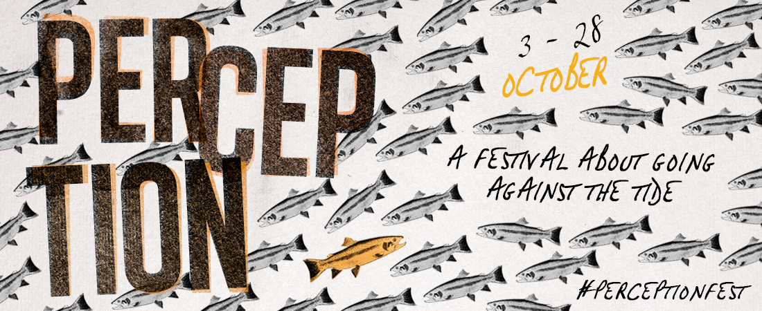 Perception Festival 2017 banner - A festival About Going Against the Tide